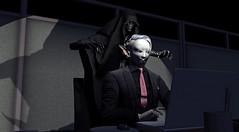 Office Life (Fraz_Gloom) Tags: second life political portrait demon deadwool laudanumlollipops contraption