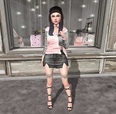 Elikatira, N Uno, Essenz + More! (hump muffin) Tags: events fameshed fashion blogging free freebies gifts kawaii project chapter four se7en uber we 3 rp besa black catwa elikatira elise enfer sombre epic essenz fashionably dead mesange michan momochuu n uno oh deer pink stardust striped veechi white second life hump muffin sl cute avatar girl clothes blog virtual world female girly hair skin secondlife 2ndlife blogger 3d outfit look lotd