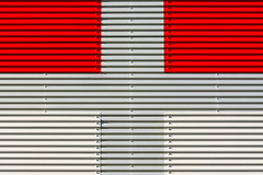 Red, grey and white facade (on Explore) (Jan van der Wolf) Tags: map1651ve red rood wall facade lines lijnen grey grijs white wit geometric geometrisch geometry gevel symmetry cross kruis abstract