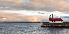 Storm clearing at sunset - Explore # 343 - THANKS! (Walt Polley) Tags: 24120mmf4gednnikkor copyright©2017waltpolley duluth minnesota nikond500 northshore lighthouse