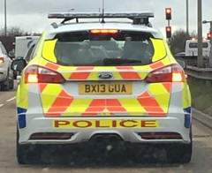 Warwickshire Police-Ford focus ST Estate-Roads policing unit-BX13 GUA (Sierraoscar595) Tags: warwickshire police warks ford focus st traffic car roads policing unit rpu bx13gua bx13 gua