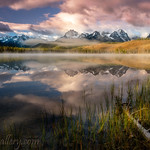 Chuck Knowles - Dramatic sunrise over Little Redfish Lake Idaho thumbnail