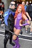 DSC_0304 (Randsom) Tags: newyorkcomiccon 2017 nyc convention october5 nycc comic book con costume newyorkcity october7 cosplay dccomics dc superhero batmanfamily teentitans spandex hero starfire nightwing sexy hot gorgeous couple duo youngjustice javits october6