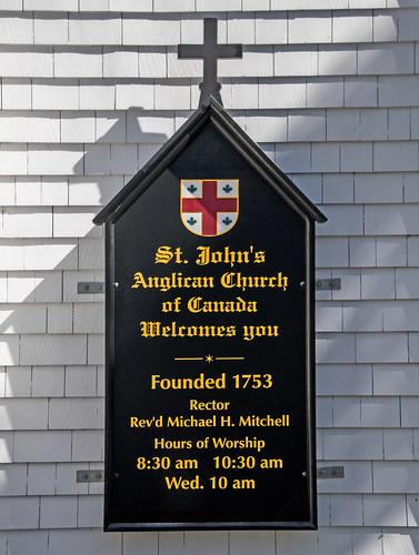 St. John's Anglican Church of Canada (Founded 1753) -- Lunenburg Nova Scotia September 2017