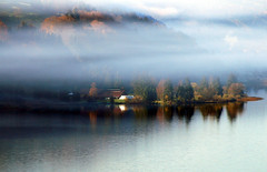 Autum Lake (JohannesMayr) Tags: alpsee bühl immenstadt see berge allgäu bayern deutschland nebel wolken bauernhof ufer lake clouds sky water fog farm bavarie germany sonne sun herbst autum