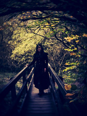 A Goth This Way Comes (i-r-paulus) Tags: gothic gothicgirl moody woodland okehampton black dark bridge magical mysterious mystical