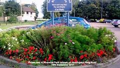 Flower bed in Riverside Park carpark on Huntingdon Ring Road 19th September 2017 (D@viD_2.011) Tags: flower bed riverside park carpark huntingdon ring road 19th september 2017