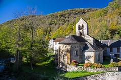 Les Bordes-sur-Lez (Ariège) (PierreG_09) Tags: lesbordessurlez ariège ourjout saintpierre chapelle église clocher mh pyrénées pirieneos couserans roman