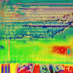 Waterfall City - 194 (Back) (Paul B0udreau) Tags: cd cover cdcover mixtape mix albumart linernotes