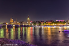 London at night (Otertryne2010) Tags: 2017 2k17 bigben london thames uk familien linakerfamily parliament westminster bridge river sky lights night riverbank mood
