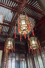 Yu Yuan (Yu Garden), Shanghai, China (Victor Wong (sfe-co2)) Tags: ancient architecture art asia asian background building celebration china chinese classic culture decor decoration design detail east event festival fortune garden gold hanging happy holiday interior japan japanese lamp lantern light luck lunar old oriental ornament ornate prosperity red religion shanghai sign spring symbol tassels traditional white year yu yuan