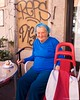 IMGP6859 The blue hair lady :-) (Claudio e Lucia Images around the world) Tags: milano streetart navigli graffiti street art colors murales sigma pentax pentaxk5 lady bluehair oldlady caffè coffe shop
