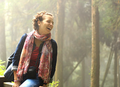 Wild happiness - Alishan (Chapo78) Tags: taiwan alishan forest nature laugh girl happiness quiet green hike