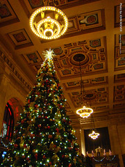 Christmas Tree at Union Station, 10 Dec 2016 (photography.by.ROEVER) Tags: christmas holidays christmastree unionstation grandhall kansascity kc kcmo 2016 december december2016 missouri usa night photography evening