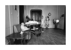 Waiting for the bathroom (Jan Dobrovsky) Tags: story leicaq retirementhome monochrome age bath people life blackandwhite social humanity human indoor document