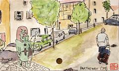 La France de sous-préfectures 79 (chando*) Tags: aquarelle watercolor croquis sketch france
