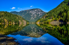 Reflections - Diablo Lake (Explored) (SonjaPetersonPh♡tography) Tags: washington washingtonstate nikon nikond5600 northcascades northcascadesscenichighway diablolake diablolakeoverlook stateofwashington mountainlandscape northcascadesloop lookout lake recreation water boating landscape scenic scenery trees forest viewpoints reflections waterreflections shore shoreline