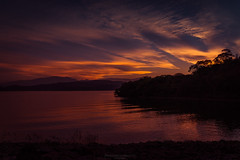 Vanishing lights (Mariano Colombotto) Tags: elcadillal tucuman argentina sunset atardecer dusk lights sky cielo water lake clouds silhouttes travel nikon photographer photography infinitexposure autofocus ngc nature landscape paisaje naturaleza reflection flickrunitedaward