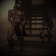 Sexy man. . . . MY sexy man!  :P (elyriamirabeau) Tags: gladiator dark gothic romantic sl