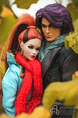 Rio and Nicole (astramaore) Tags: doll fashion fashiondoll fashionistas dollphotography integritytoys astramaore high envy erin redhead scarf coat autumn fall girl chic beauty glam style ponytail rio pacheco love relations relationship affair lovestory loveaffair couple