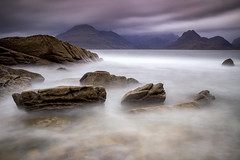 Before The Storm (RichySum77) Tags: canon sigma isle skye longexposure mist clouds scotland cullin elgol beach stormy