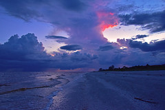 Sanibel Island - Evening Storms (Will-Jensen-2020) Tags: clouds gulfofmexico sanibelisland usa florida sanibel island sancap storm beach seascape water gulf