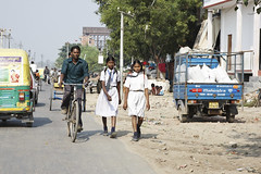 Pedestrians in India