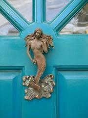 mermaid (curly_em) Tags: brighton eastsussex england doorknocker door blue mermaid knocker
