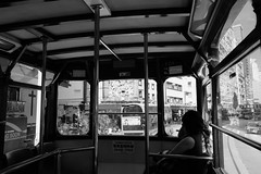 Hong Kong Tramway (HAMACHI!) Tags: hongkong 2017 autumn アガる香港 travel trip hongkonglife tramway doubledecker monochrome bnw bandw openair 香港 香港トラム 英皇道 kingsrd quarrybay