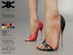 Talia :: Woman Shoes :: 10 Colors ({kokoia}) Tags: talia kokoia stilettos shoes heel shoe avatar sandals summer maitreya slink belleza tmp themeshproject eve high night secondlfie 3d stiletto