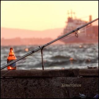 The fisherman at Kordon, Izmir, Turkiye.