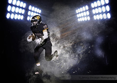 Runningback (Jenny Onsager) Tags: runningback running touchdown sprint smoke motion sports football americanfootball sportsposter highschoolsports lights stadium senior