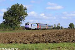 BB67628 et Z9516 sur train Vénissieux Clermont Ferrand vers Magnet (philippedreyer1) Tags: