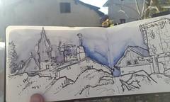 Sketchcrawl à Voreppe par un bel après midi ensoleillé !  #perspectivepaysages #paysvoironnais (dege.guerin) Tags: instagramapp square squareformat iphoneography uploaded:by=instagram