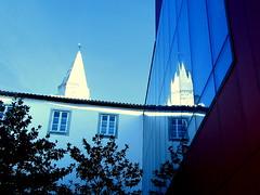 Belltower's mirror (Nada BN) Tags: koper church university building architecture slovenia