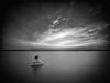 Salt lake serenity (joaquinain) Tags: largaexposición longexposures bn bw nd1000 laowa olympus omd em1 torrevieja salinas nubes clouds vigneting viñeteo