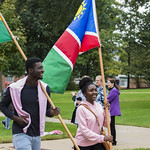 "<b>Homecoming Parade</b><br/> The international students assossiation and allies ISAA celebrated the diversity at Luther College by walking the homecoming 2017 parade. October 7 2017. Photo by Hasan Essam Muhammad<a href=""http://farm5.static.flickr.com/4473/37755936511_2382812fd1_o.jpg"" title=""High res"">∝</a>"