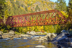 The Red  Bridge in Tumwater Canyon (Daniel P Froese) Tags: red bridge redbridge river wenatchee washington washingtonstate eastern fall autumn colors pictures picture photo photos image images tumwater canyon rust