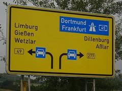 Directions near Wetzlar (harry_nl) Tags: germany deutschland 2017 wetzlar directions trafficsign