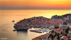 Sunset in Dubrovnik, Croatia (AdelheidS Photography) Tags: adelheidsphotography adelheidsmitt adelheidspictures dubrovnik croatia dalmatia coast cityview adriatic balkan canoneos6d canonf4l2470mm sunset town viewpoint water sea boat unesco sun city