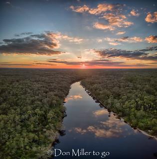 Sundown over Myakka