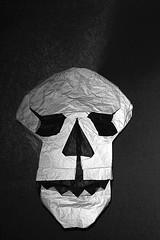 Skull (Matthew Green) (De Rode Olifant) Tags: skull origami paper paperfolding matthewgreen marjansmeijsters halloween ruby3 3d origamiskull videotutorial saraadams