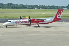 D-ABQJ Dusseldorf 29 May 2017 (ACW367) Tags: dabqj dehavillandcanada dhc8q402 dash8 lgw luftfahrtgesellschaftwalter airberlin dusseldorf