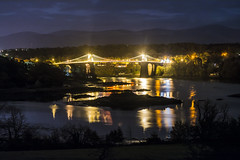 Menai Bridge (tomdavies19) Tags: night landscape anglesey snowdonia bridge longexposure lights wales northwales