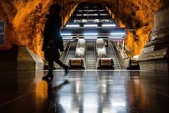 Metro Rådhuset, Stockholm, Sweden (andersåkerblom) Tags: orange stockholm escelator streetphotography streetphoto street metrostation metro