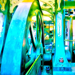 ( When the machine is silent ) (Wandering Dom) Tags: vintage old machinery massive pumping engine waterworks boston massachusets architecture geometry giant wheels gears water system existence time life roam wandering