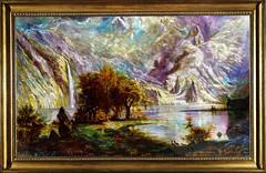 albert_outdoor_framed (THAOLEARTSTUDIO) Tags: thaoleartstudio thaole thaoarts grounded metal painting groundedmetalpainting landscape albert bierstadt