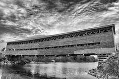 171000GASPBW-039 Pont couvert (clamato39) Tags: pontcouvert pont bridge wood ciel sky monochrome bw blackandwhite noiretblanc matapédia provincedequébec québec canada gaspésie