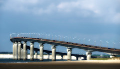 Bridge of Isle of Rhé (JLM62380) Tags: charente sky water beach travel architecture cars highway road traffic bridge outdoors îlederé transportation îlederébridge