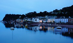 Calm before Night (JamieHaugh) Tags: shaldon devon england uk color outdoors water river reflection boats sony a6000 night calm evening dusk houses harbour